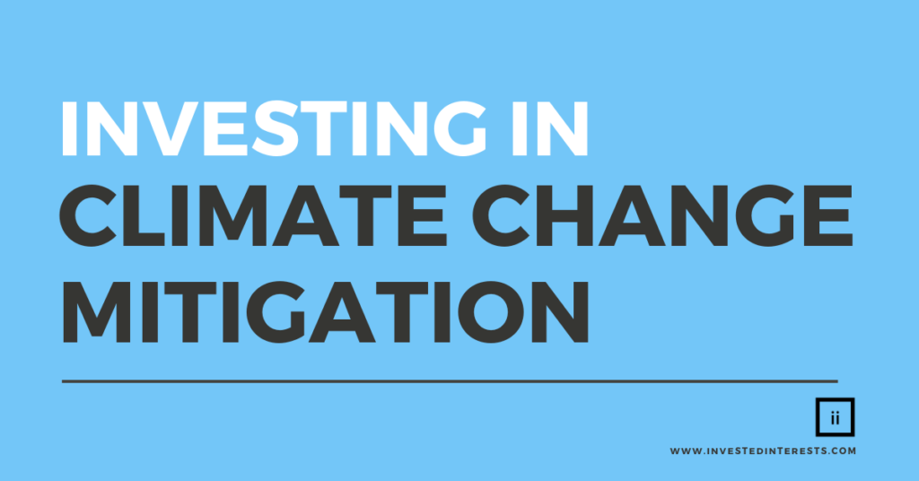 Investing in Climate Change Mitigation