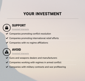 Invested Interests' Peace Portfolio