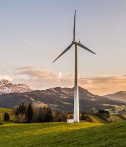 windmill on a field