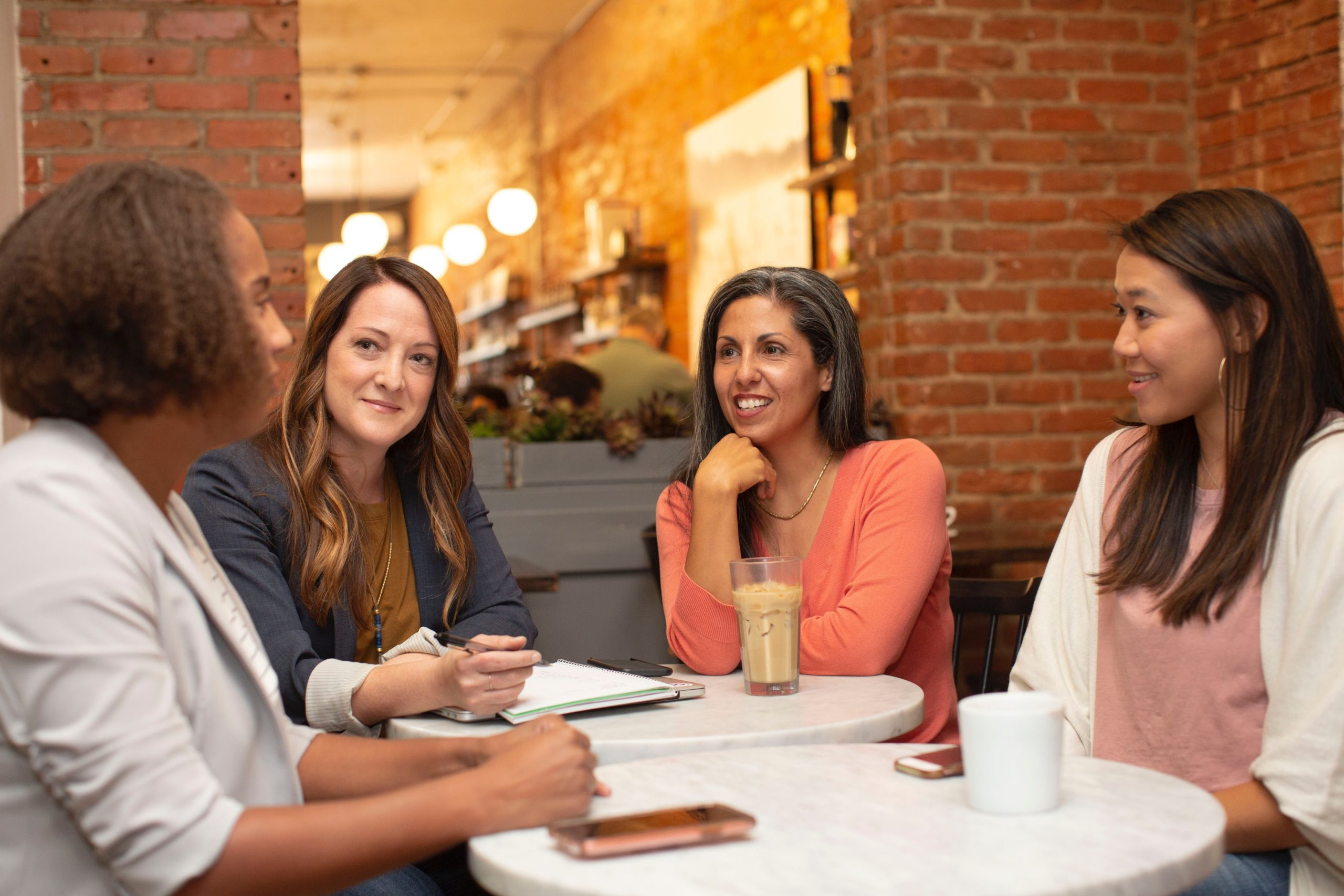 Women discuss pay transparency